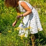 Sommerkleid mit Blaubeeren