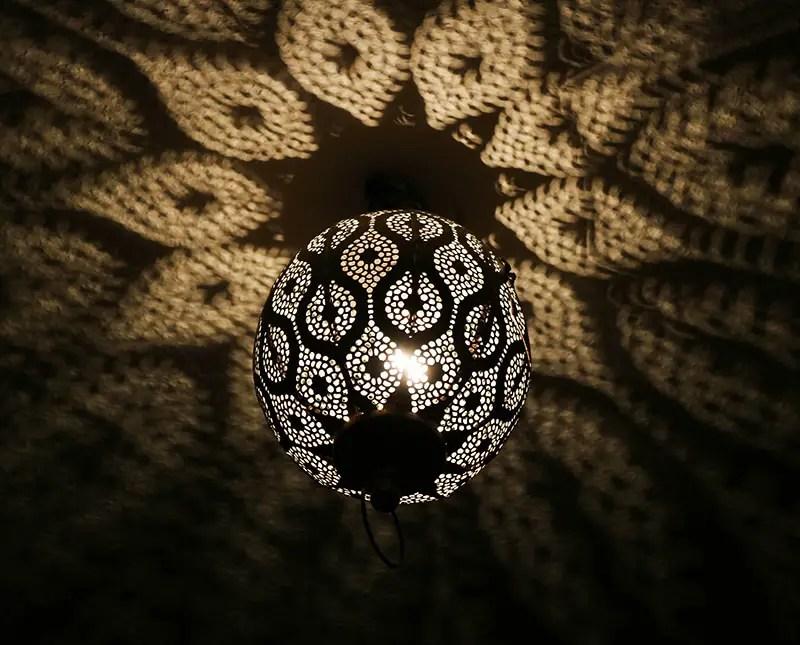 Upycling  Orientalische Lampe aus einer Laterne  Anleitungen Do it yourself  Anleitung DIY
