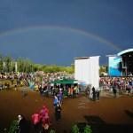 Regenbogen auf dem MS Dockville