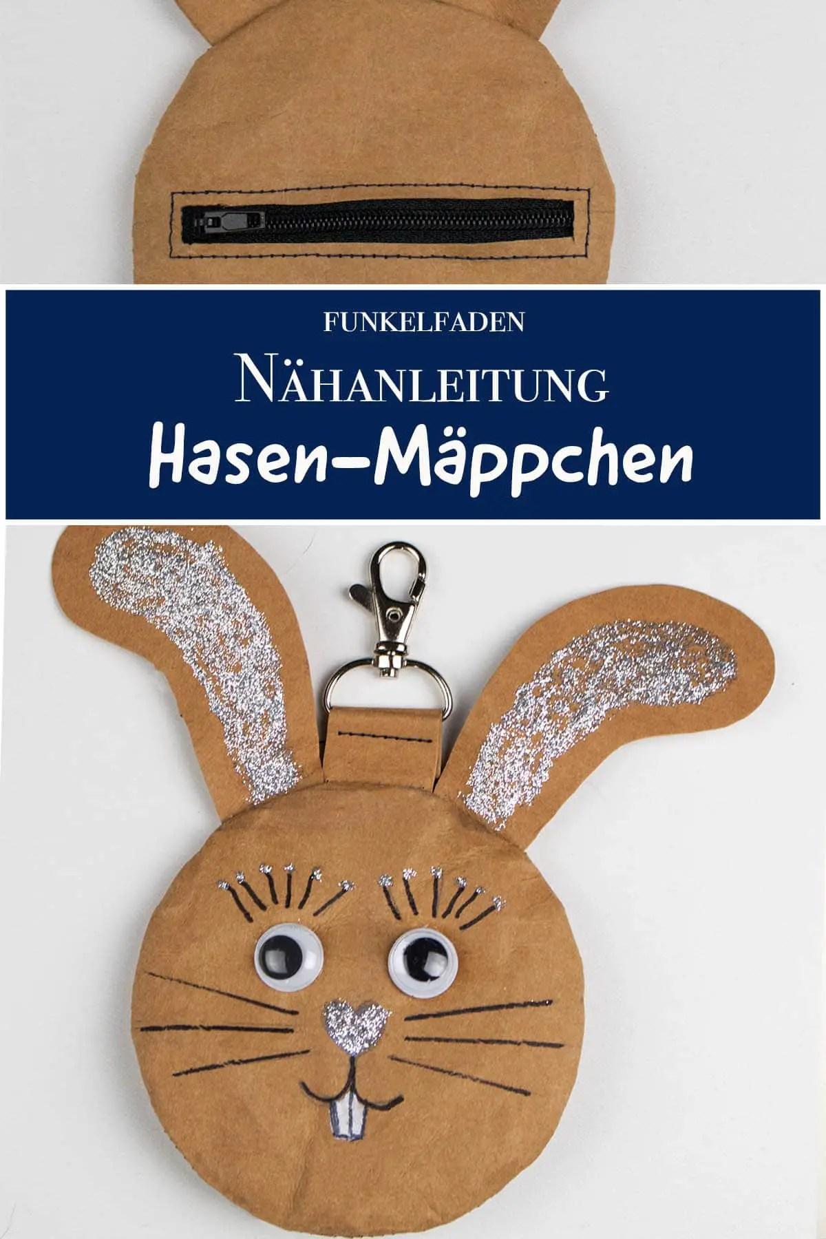 Nähanleitung - Hasen-Mäppchen für Ostern nähen