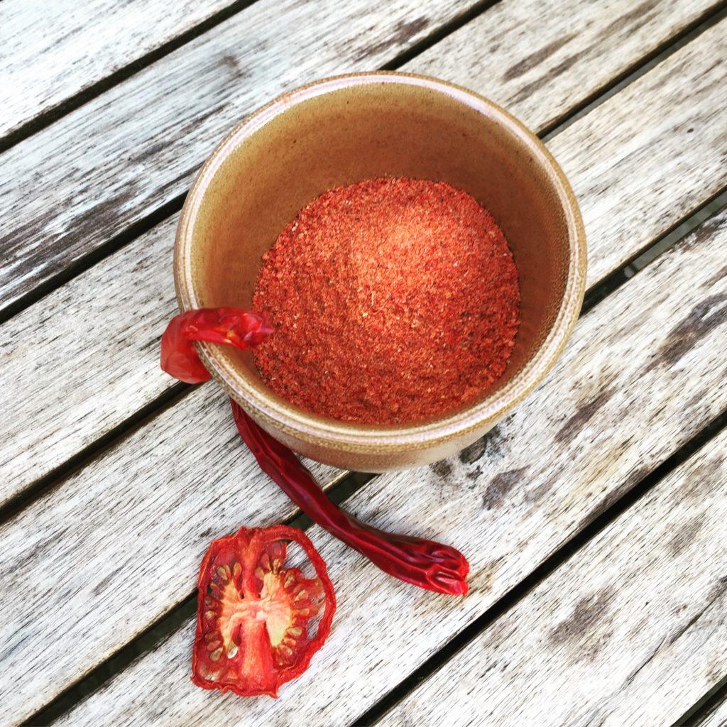 Paprika Tomaten Chili Pulver