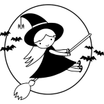 Broomstick with a Witch - Jokes for Kids and Halloween