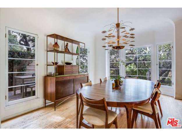 This is my dream dining room -- table & chairs, light fixture, and buffet table et al.