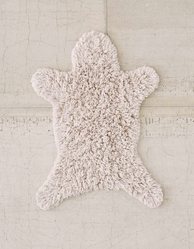 "Dry your feet this ""fur"" rug. Tell your friends it was a baby direwolf."