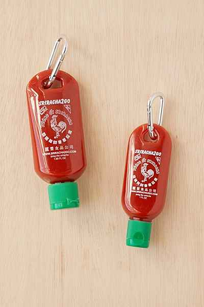 sriracha keychain for white elephant gifts