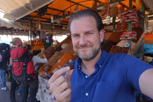 Mike and his date Marrakech food tour