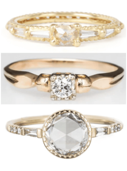 The unique engagement rings that are doing my head in