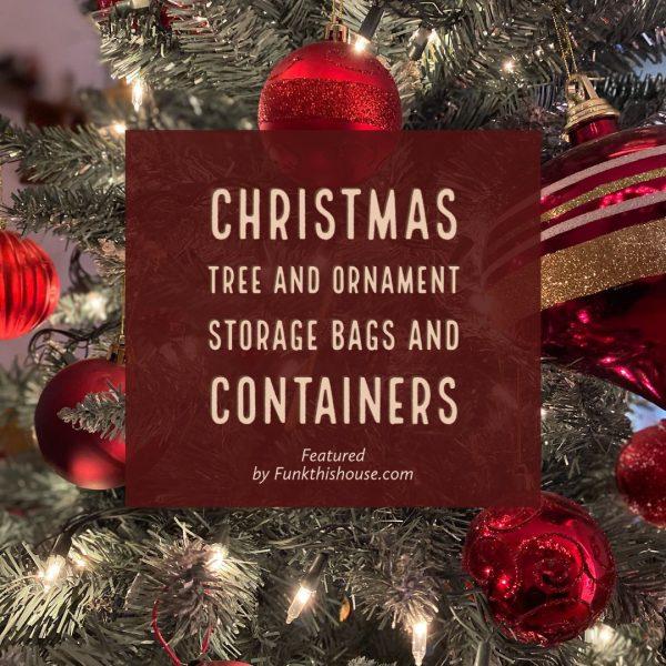 Christmas Tree and Ornament Storage