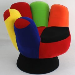 Cool Chairs White Leather Chair Office Funky Mitt Hand Something Different Funk This House