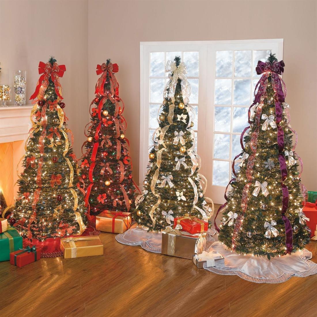 Lit Trees Pre Pull Christmas
