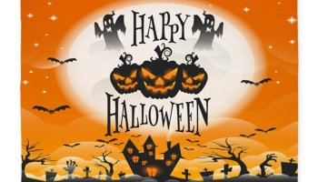 funkn cute scary halloween area rugs - Halloween Rugs