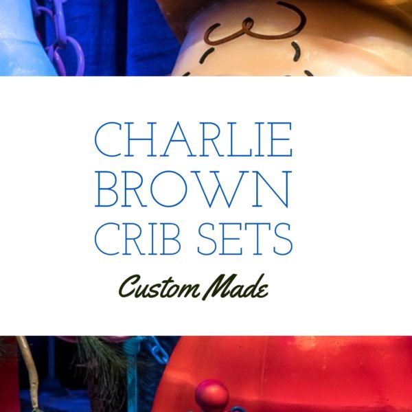 Custom Made Charlie Brown Crib Bedding