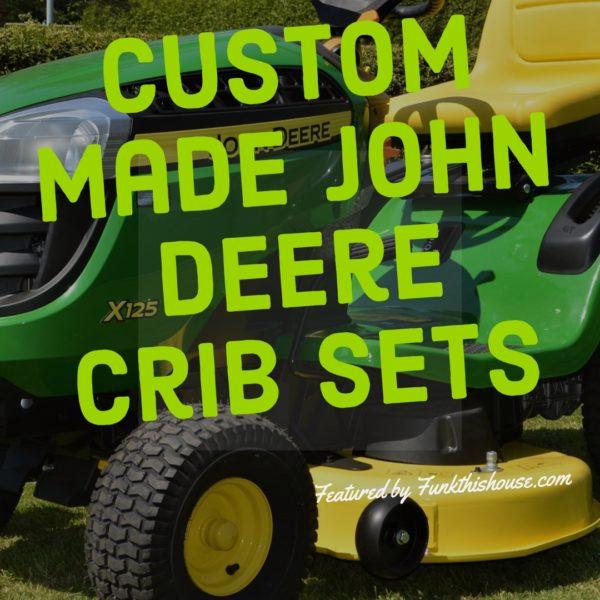 Custom Made John Deer Crib Sets