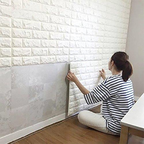 3D Wall Panels - White Brick Look