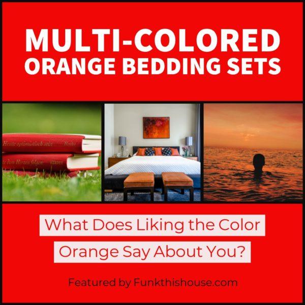 Multi Colored Orange Bedding