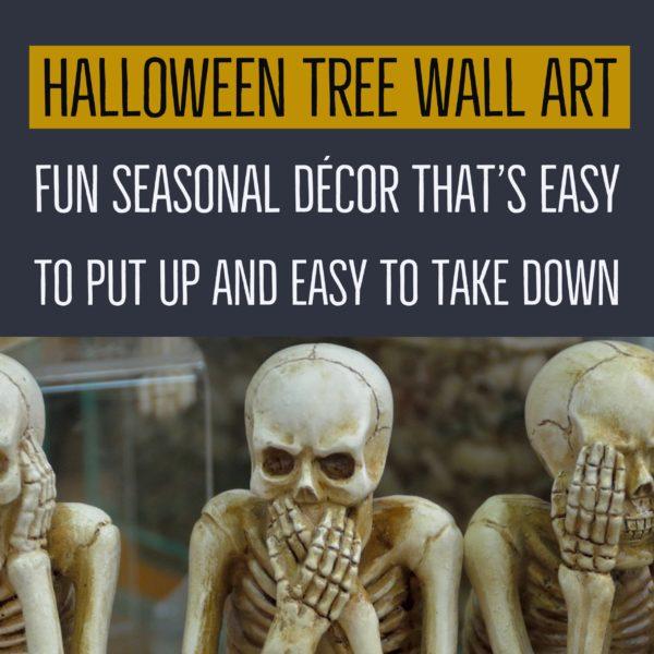 Halloween Tree Wall Art