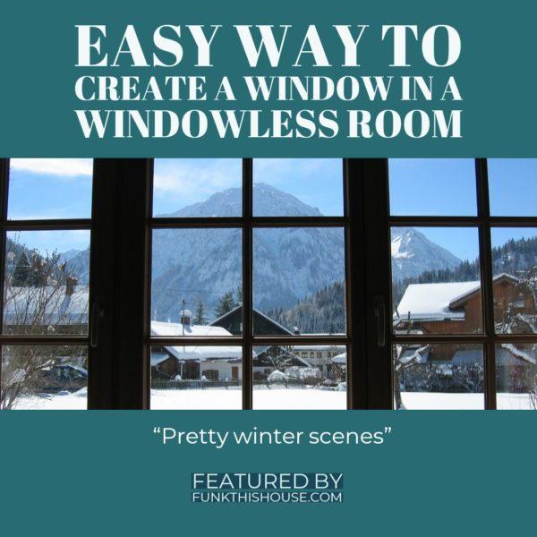 Faux Winter Window Decal