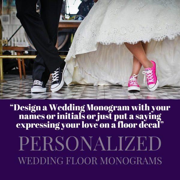 Personalized Wedding Floor Monograms and Decals
