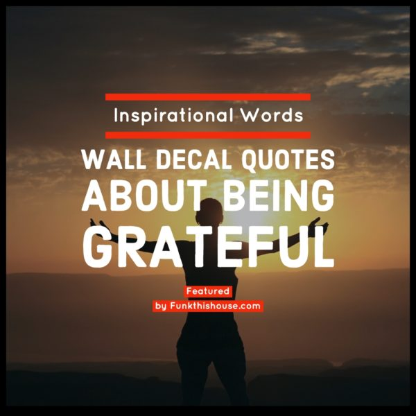 Grateful Wall Quote Decals