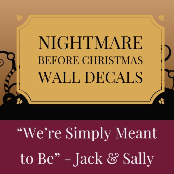 Nightmare Before Christmas Wall Decals