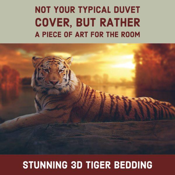 3D Tiger Duvet Bedding Set