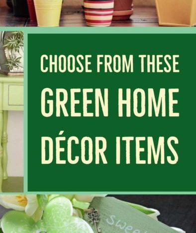 Green Home Decor Items