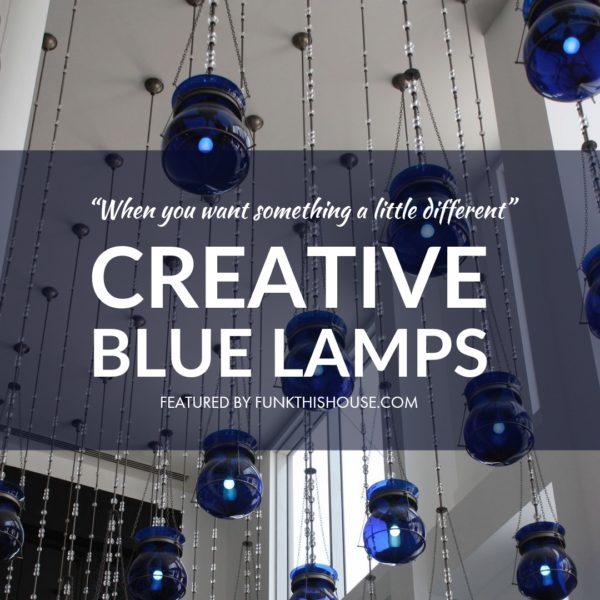 Creative Blue Lamps