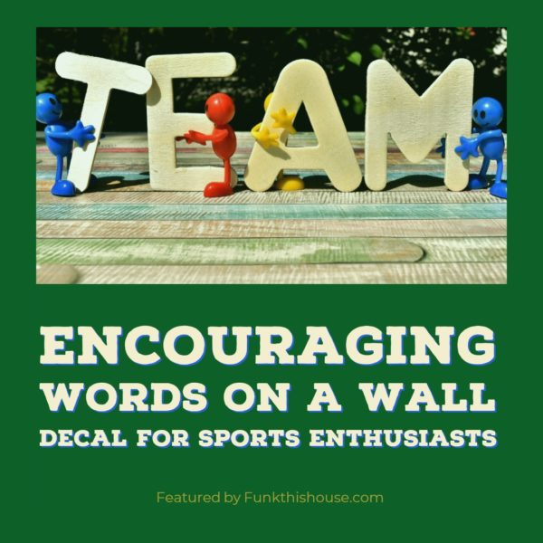 Encouragement Sports Decals for the Wall