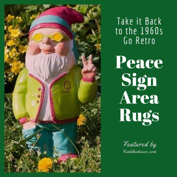 Peace Sign Area Rugs