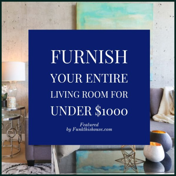 Decorate a Living Room for Under $1000