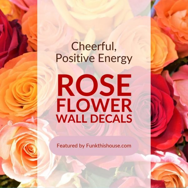 Rose Flower Wall Decals