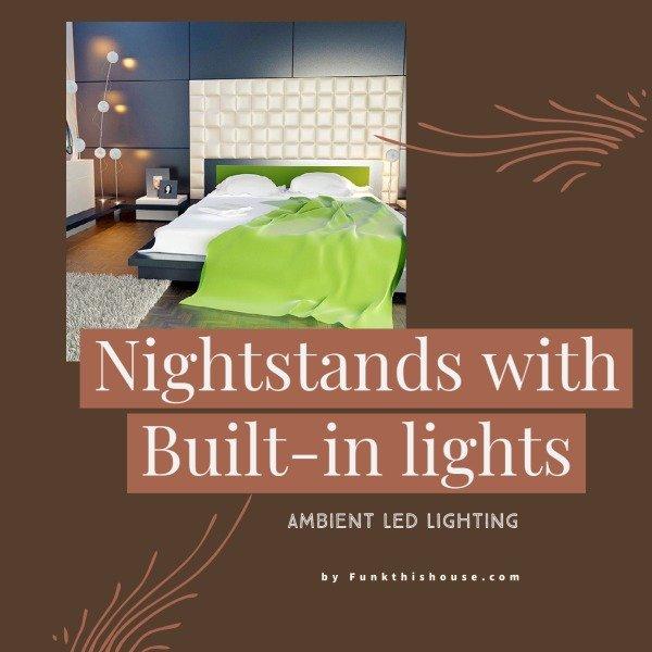 Nightstand with Built-in Lighting