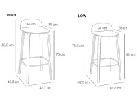 Bar Stool Sizes - Bing images