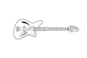 Drawing of the Sirena Modelo Uno with Exotica pickup