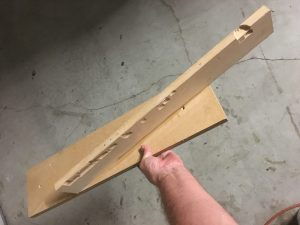 table saw fixture for cutting a scarf joint