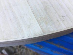 Seam joint, holly binding poplar body