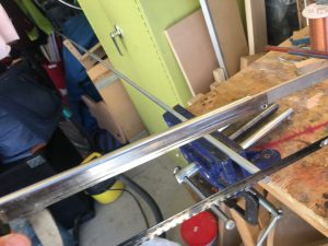 Cutting fretmarkers from aluminum bar stock