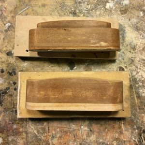 two masters made for resin casting pickups