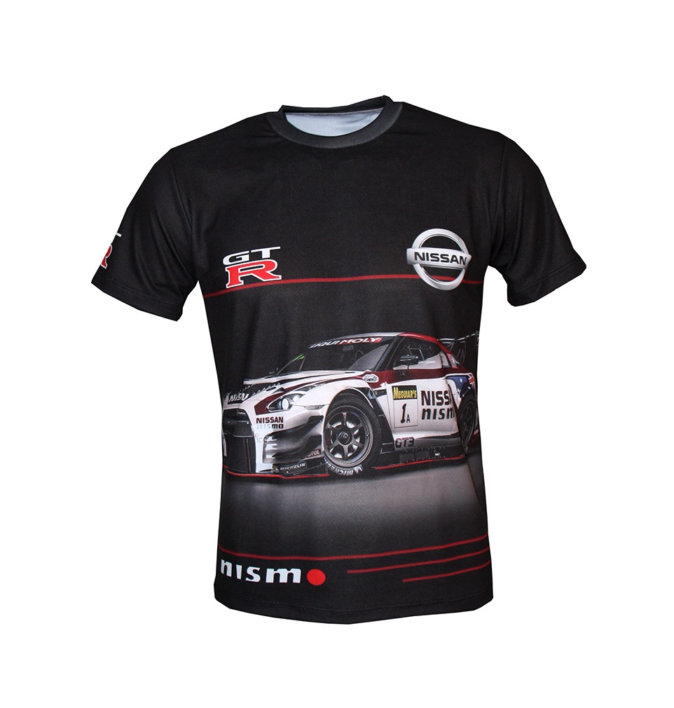 Nissan Gtr Tshirt With Logo And Allover Printed Picture