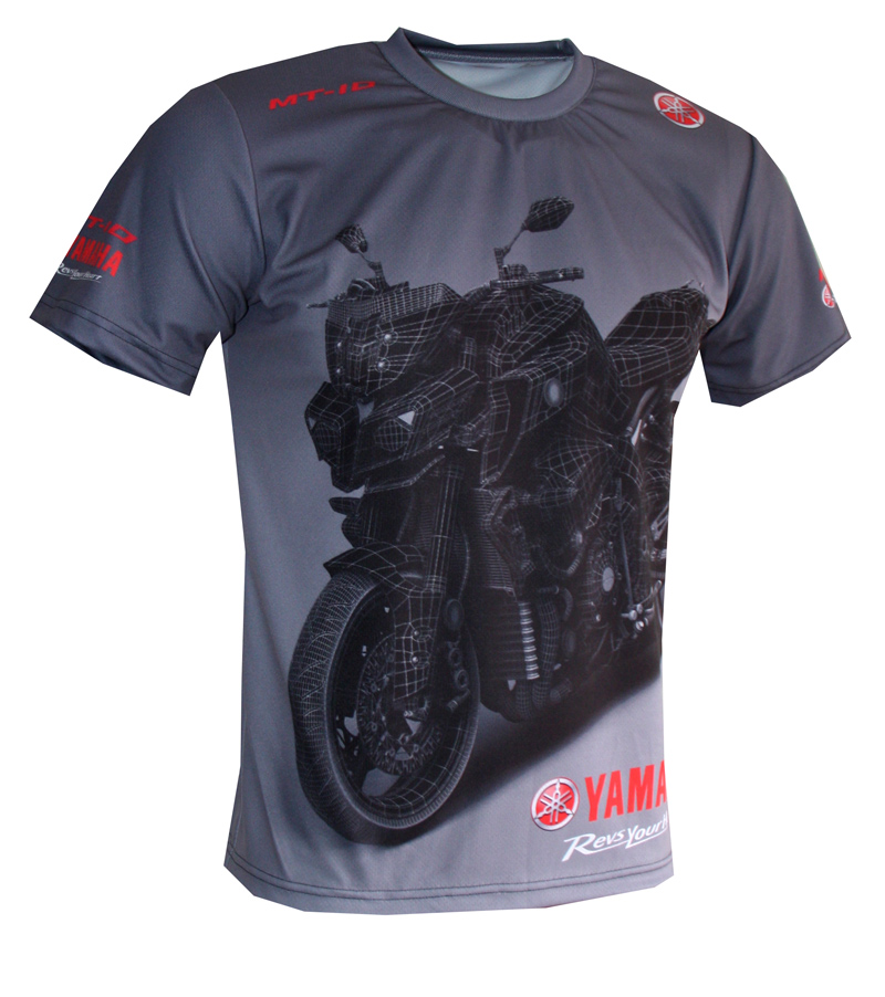 Yamaha MT10 tshirt with logo and allover printed picture  Tshirts with all kind of auto