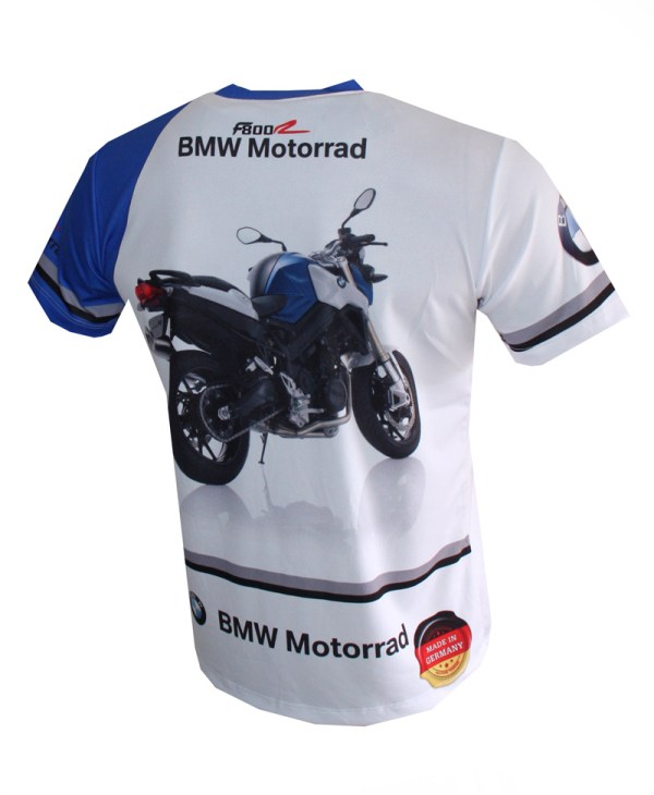 Bmw F800r T-shirt With Logo And -over Printed