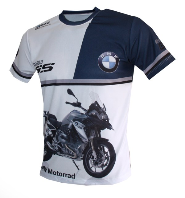 Bmw R1200gs T-shirt With Logo And -over Printed