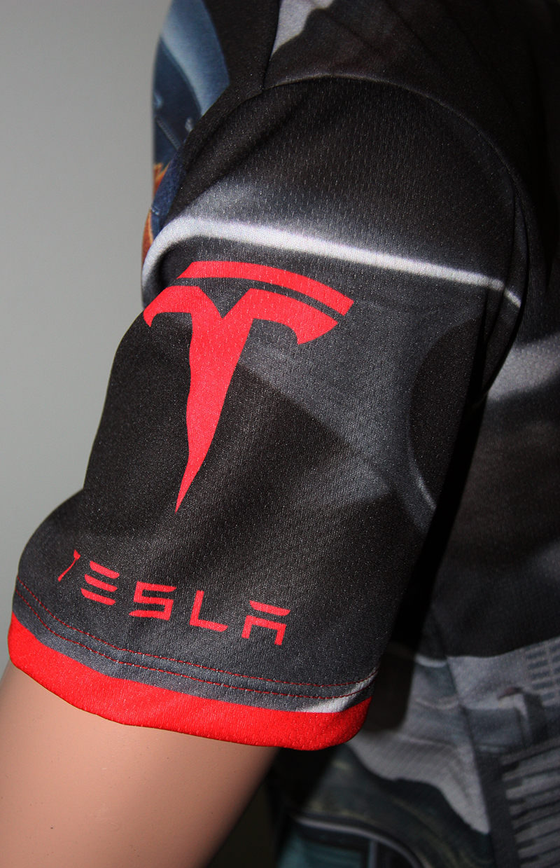 Tesla tshirt with logo and allover printed picture  Tshirts with all kind of auto moto
