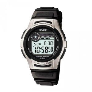 CASIO Collection – W-213-1AVES, Black case with Black Rubber Strap