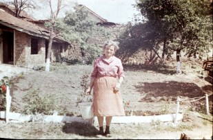 My grandma in her garden