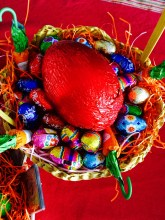 The sweet version of the Easter egg basket LOL