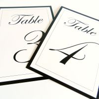 [Etsy sale] Flat wedding table numbers