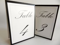 Tent table numbers Palace script