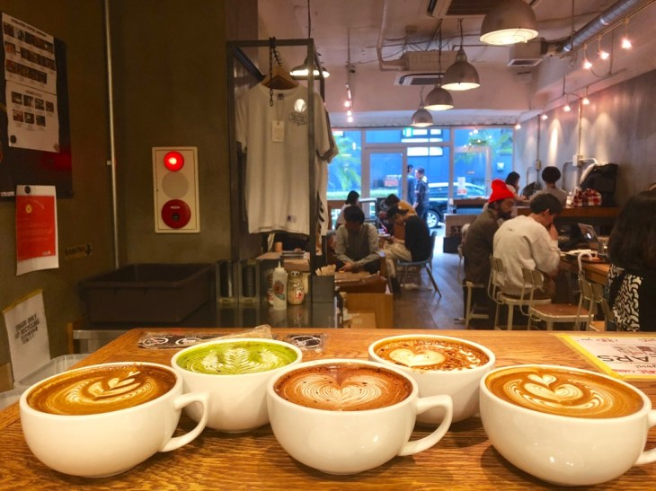 Cafe latte art at Streamer Coffee Company