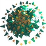 Christmas Tree and Star Confetti - Fun Cards